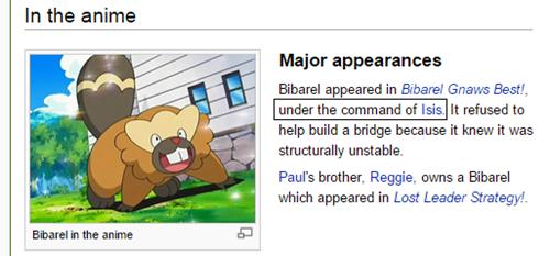 allahu akbar Pokémon anime bibarel isis - 8463485696