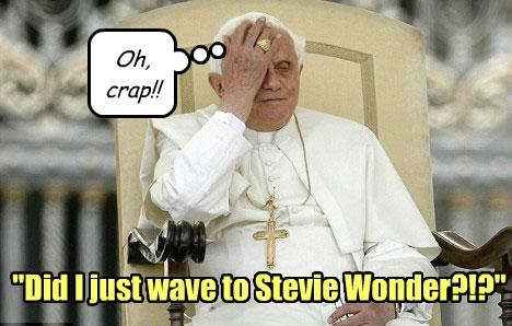 """""""Did I just wave to Stevie Wonder?!?"""" Oh, crap!!"""