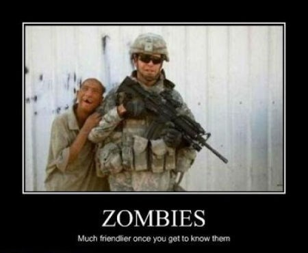funny idiots soldiers zombie - 8463656960