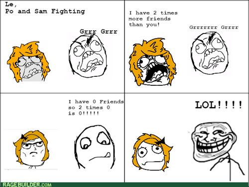 trolling,friends,fight
