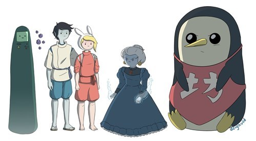 spirited away adventure time crossover