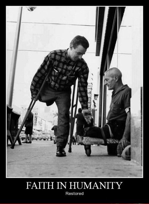 charity faith in humanity help funny leg - 8463947264