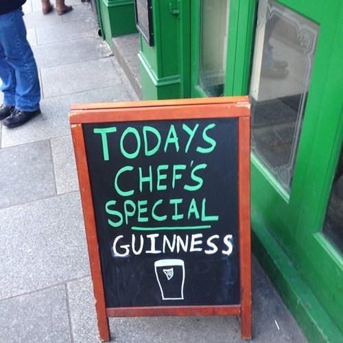 the special is always guinness