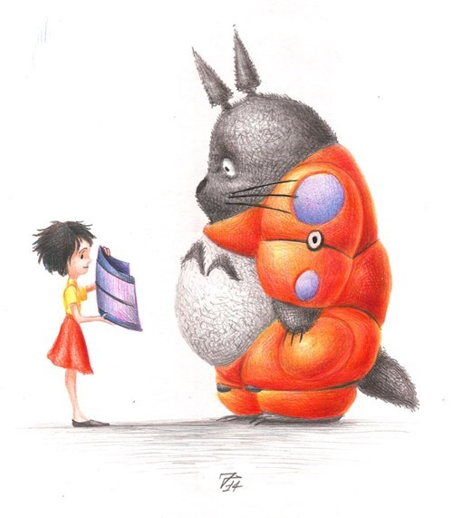 totoro baymax crossover