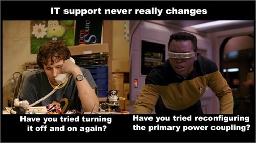 geek meme star trek it support