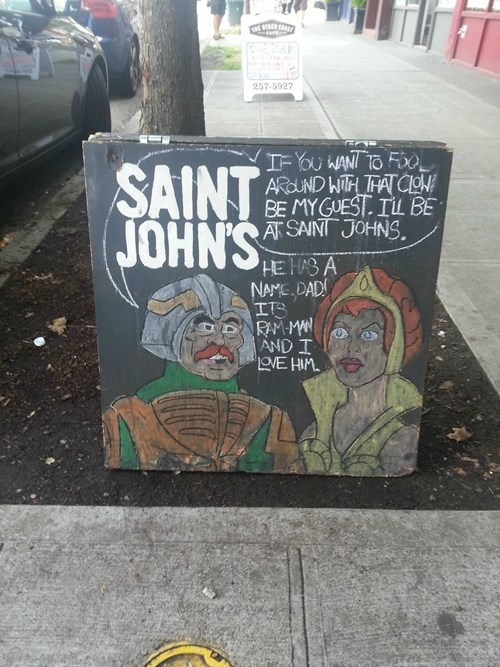 saint johns makes good pub signs