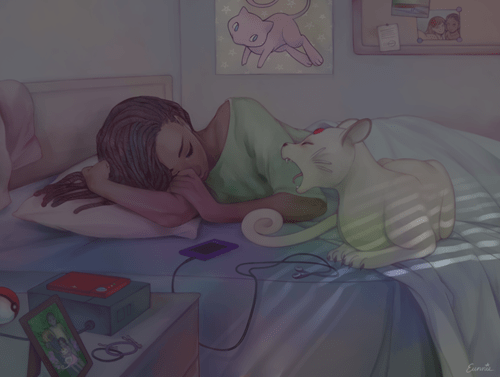 persian,Pokémon,Fan Art,sleep
