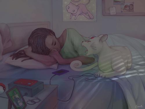 persian Pokémon Fan Art sleep - 8464054528