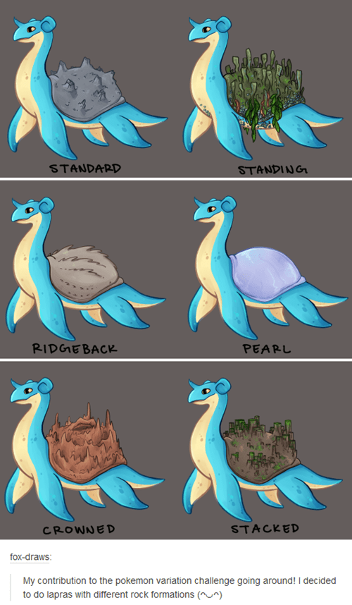 Fan Art lapras pokemon variations - 8464314112
