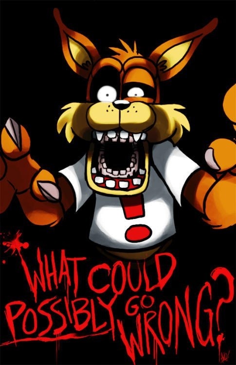 crossover Fan Art bubsy five nights at freddy's - 8464375552