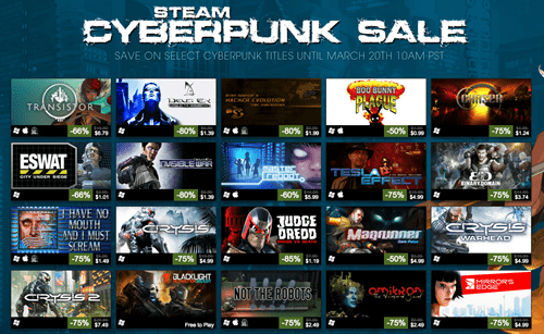 video game news steam cyberpunk sale