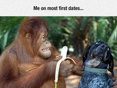 first date dogs banana funny - 8464444416
