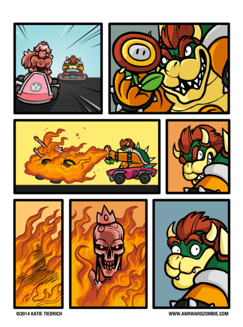 The Terminator peach Mario Kart bowser web comics - 8464448256