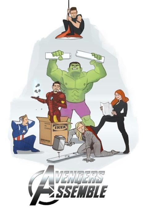 superheroes-avengers-marvel-ikea-assemble-pun