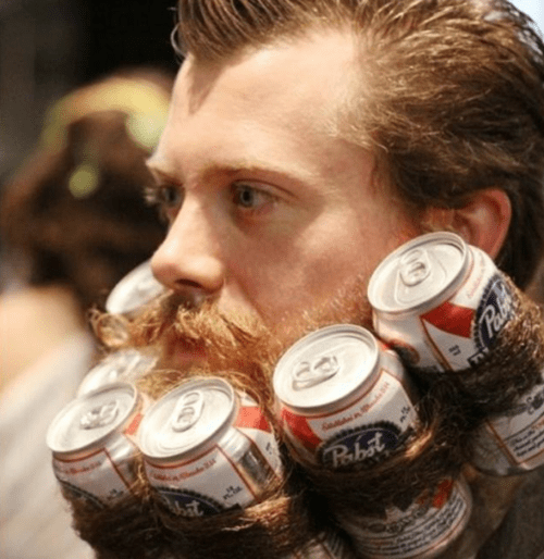 the beer beard is the way to do it.