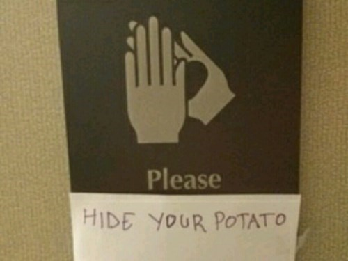 hide potato bathroom wash hands - 8464622336
