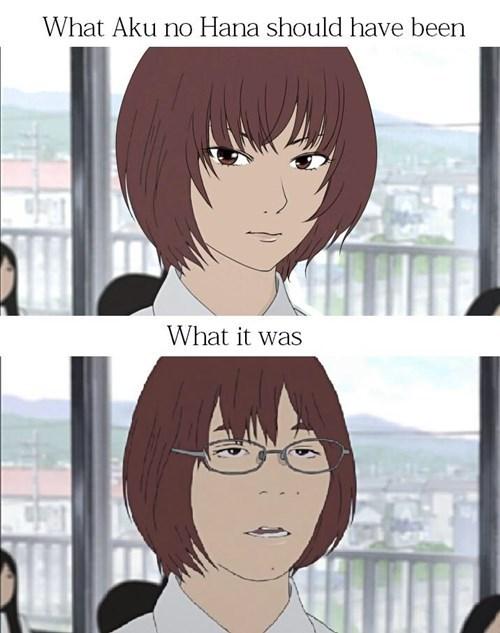 expectations vs reality anime aku no hana - 8464745984