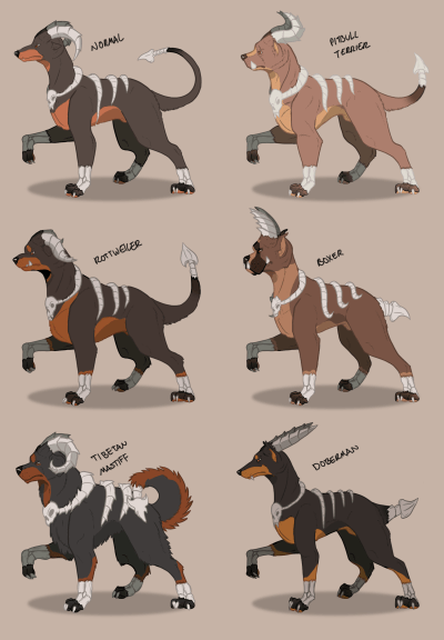 houndoom Fan Art pokemon variations - 8464777728