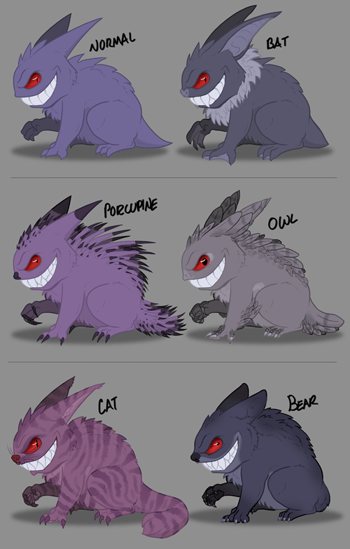 Fan Art gengar pokemon variations - 8464779264