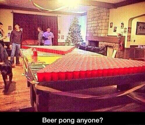 it's going to be a long game of beer pong