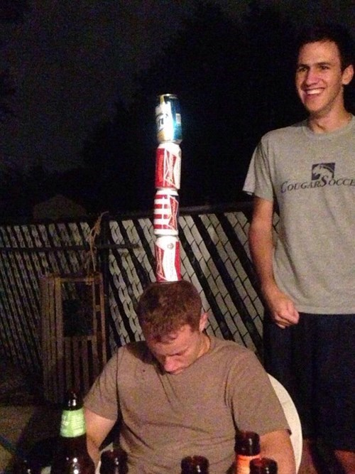 passing out is the best base for a beer tower