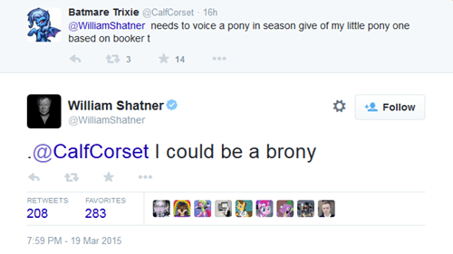 twitter brony William Shatner - 8465518080