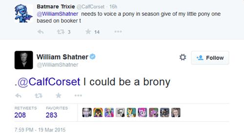 twitter brony William Shatner - 8465518080