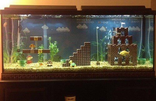video-games-super-mario-aquarium