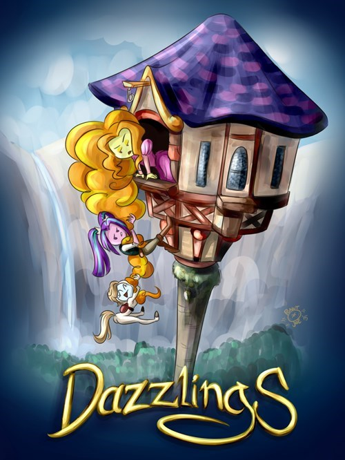 Fan Art tangled dazzlings ponify - 8466604032