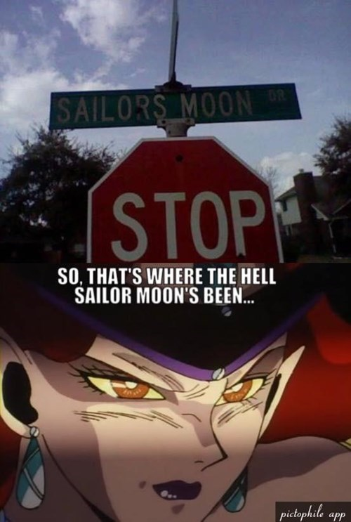 IRL anime sailor moon stop sign - 8466617856