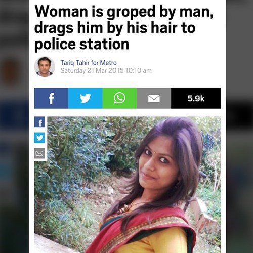 woman drags man to police station after being groped