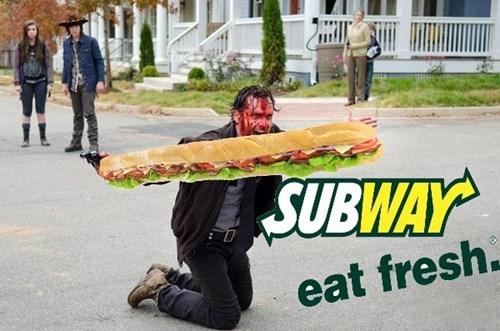 Rick Grimes Subway five dollar foot long The Walking Dead - 8466839808