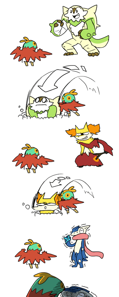 hawlucha,Fan Art,greninja,web comics
