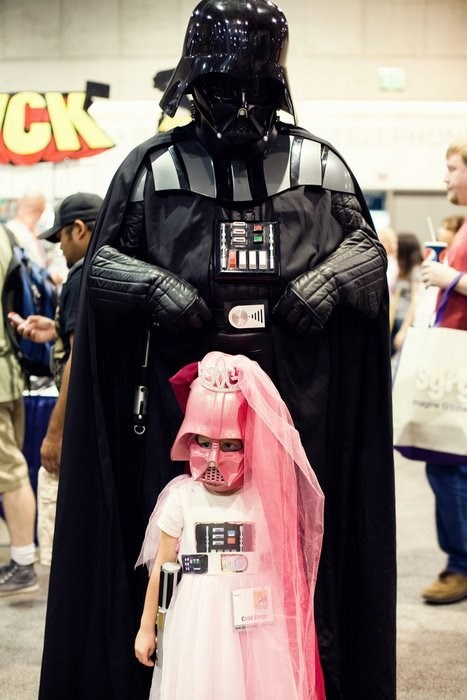 father daughter darth vader cosplay