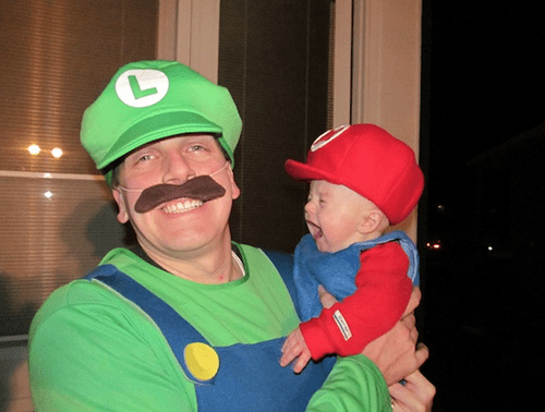 mario luigi father son cosplay