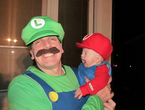 mario luigi father son cosplay