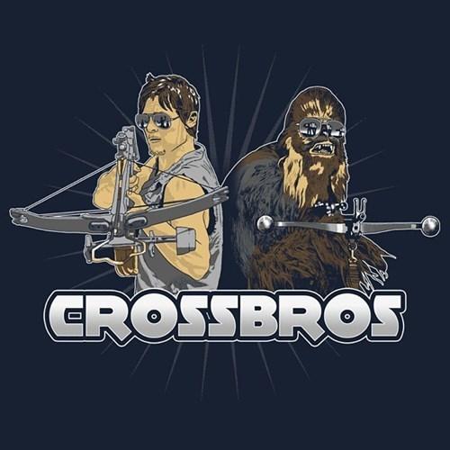 funny-walking-dead-daryl-dixon-chewbacca-crossbow-tshirt