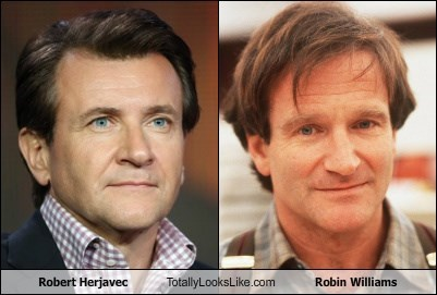 Robert Herjavec and Robin Williams side by side.