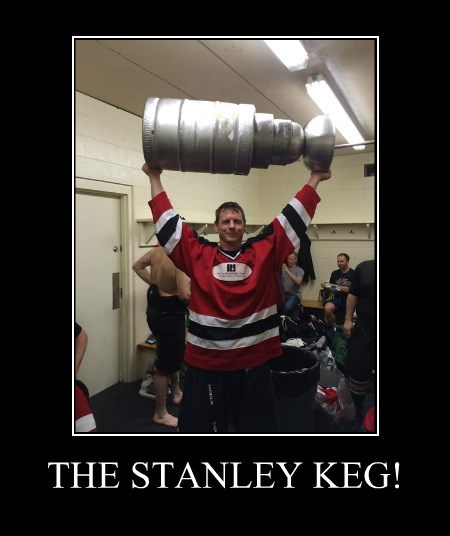 stanley coup hockey awesome funny keg