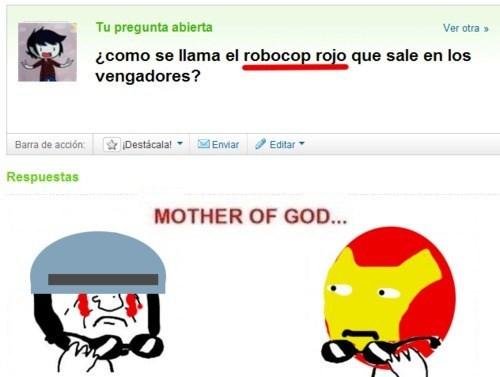 Robocop rojo