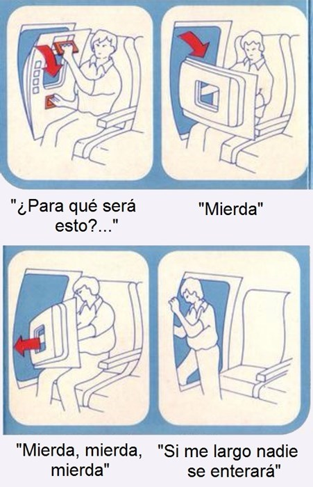en el avion
