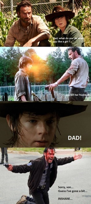 funny-walking-dead-rick-grimes-insane-puns-carl-advice