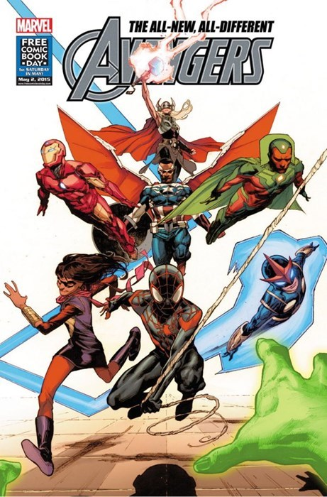 Comics - MARVEL THE ALL-NEW,ALL-DIFFERENT GERS FREE COMIC ВOOK DAY- et SATLRDAY IN MAY May 2, 2015