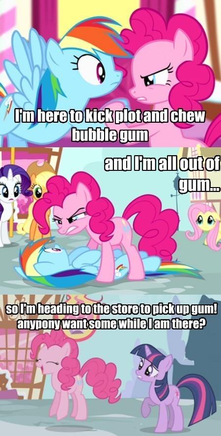 chew bubblegum,cliché,pinkie pie,store