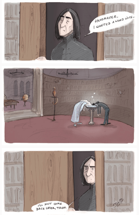 geek memes harry potter snape pensieve comic