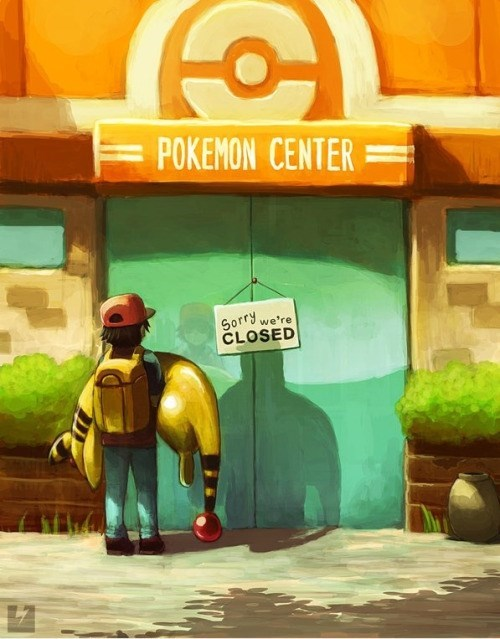 pokemon center,Fan Art