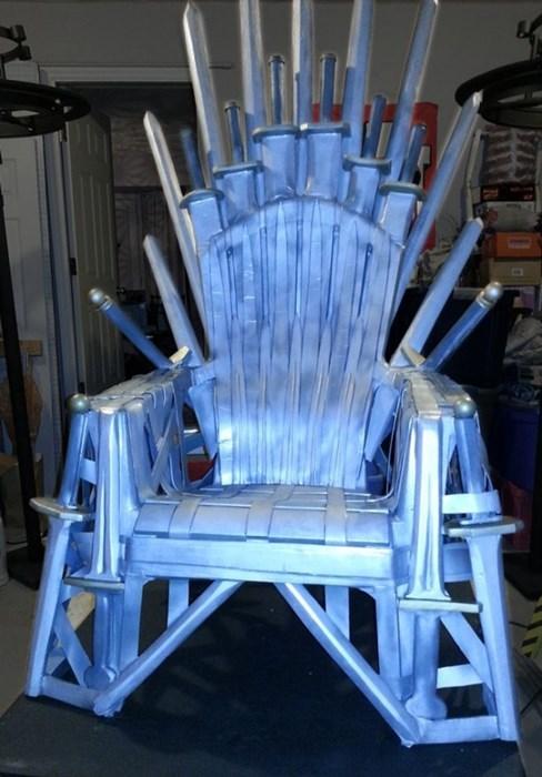 lawn chair iron throne
