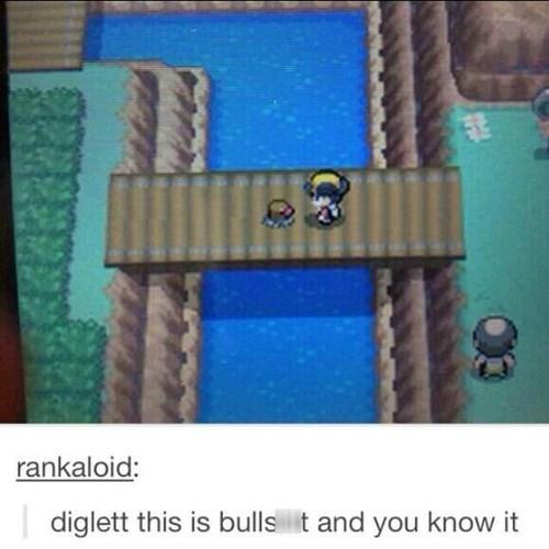 pokemon memes diglett bridge