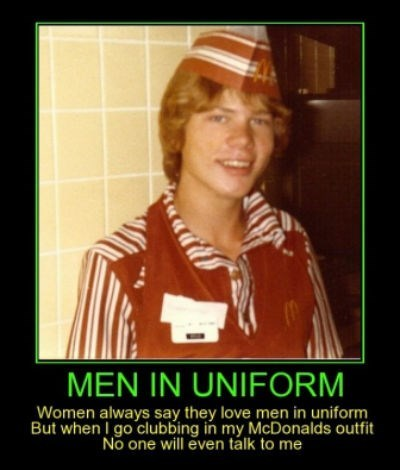 men,uniform,McDonald's,funny