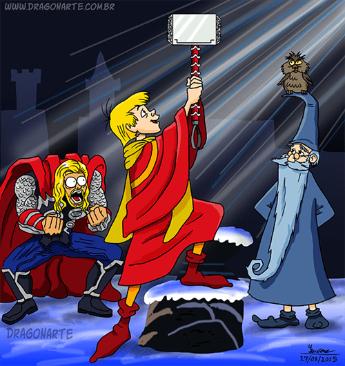 superheroes-thor-marvel-sword-and-the-stone-disney-comic